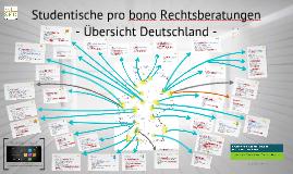 Studentische Rechtsberatungen in Deutschland, Übersicht