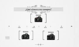¿Qué cámara me compro?