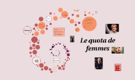 La quota de femmes