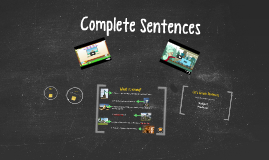 Copy of Complete Sentences