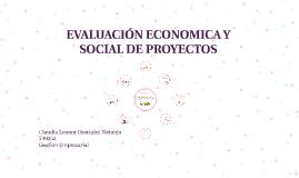 EVALUACIÓN ECONOMICA Y SOCIAL
