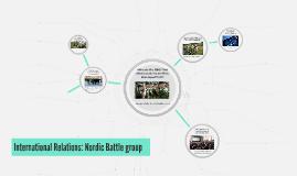 International Relations: Nordic Battlegroup