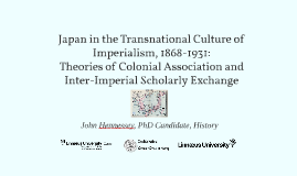 Japan in the Transnational Culture of Imperialism