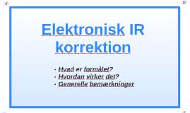 Elektronisk IR korrektion