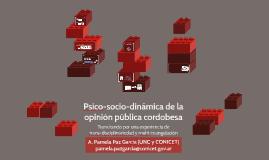 Psico-socio-dinámica de la opinión pública cordobesa: