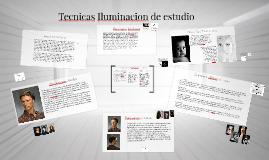 Tecnicas Iluminacion de estudio