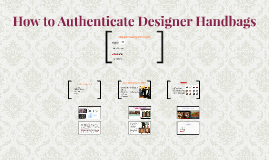 How to Authenticate Designer Handbags