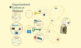 Organizational Culture at WalMart