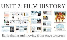 Film Studies: Unit 2 - History of Cinema