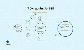IT Companies for B&E