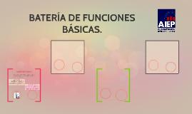 BATERÍA DE FUNCIONES BÁSICAS.