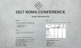 2017 NOMA CONFERENCE