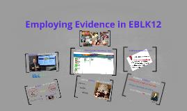 Exploring the Evidence in EBL K12