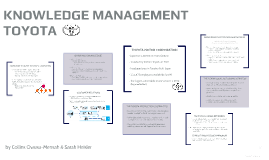 knowledge management practices case study of toyota