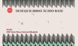 DESEQUILIBRIO ÁCIDO-BASE