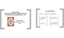 2013-1 Clase No. 2 - Concepto AJ - Obligaciones y clasificación