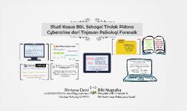 Studi Kasus BDL sebagai Tindak Pidana Cybercrime dari Tinjau