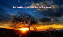 Entrega técnica del Programa de Orientación