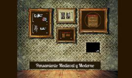 Pensamiento medieval y moderno