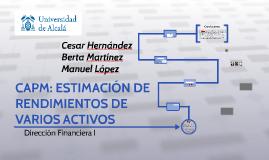 CAPM: ESTIMACIÓN DE RENDIMIENTOS DE VARIOS ACTIVOS