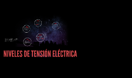 NIVELES DE TENSION ELECTRICA