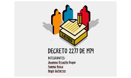 DECRETO 2277 DE 1979