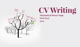 CV Writing - Week 2