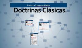 Doctrinas Clásicas 1 Iusnaturalistas