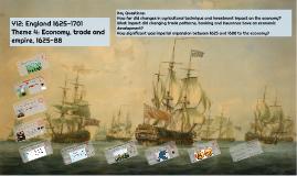 Economy - England 1625-1688