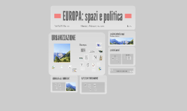 EUROPA: spazi e politica