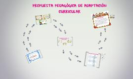 PROPUESTA PEDAGÓGICA DE ADAPTACIÓN CURRICULAR