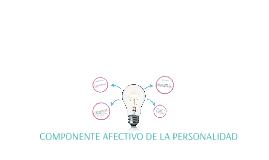 Copy of COMPONENTE AFECTIVO DE LA PERSONALIDAD
