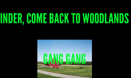 INDER COME BACK TO WOODS