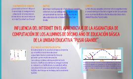 INFLUENCIA DEL INTERNET EN EL APRENDIZAJE DE LA ASIGNATURA DE COMPUTACIÓN DE LOS ALUMNOS DE DÉCIMO AÑO DE EDUCACIÓN BÁSI