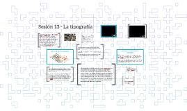 Sesión 13 - La tipografía