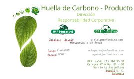 Huella de Carbono - Producto