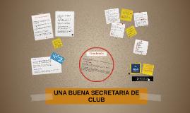 UNA BUENA SECRETARIA DE CLUB