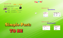 Simple past: TO BE
