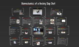 Biomechanics of a slap shot