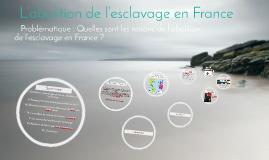 L'abolition de l'esclavage en France