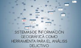 SISTEMAS DE INFORMACIÓN GEOGRAFICA COMO HERRAMIENTA PARA EL