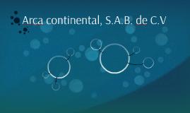 Arca continental, S.A.B. de C.V