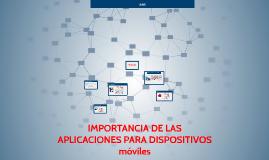 Copy of Importancia de las aplicaciones para dispositivos moviles y