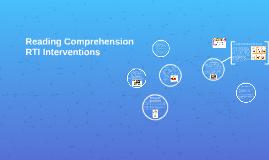Reading Comprehension RTI Interventions