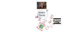 Copy of Orem's Theory
