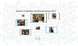 Density Activities and Presentations