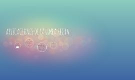 APLICACIONES DE LA LINEA RECTA