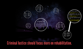 librt the criminal justice should focus Debate your thoughts about the criminal justice system and whether the focus  should be on rehabilitation instead of retribution.