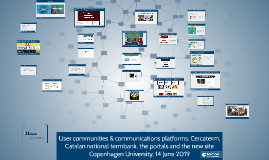 User communities & communications platforms: Cercaterm, Catalan national termbank, portals and the new site