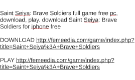 Saint Seiya: Brave Soldiers full game free pc, download, pla